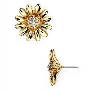 Kate Spade Gold Crystal Daisy Earrings
